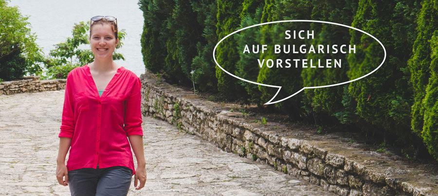 Auf Bulgarisch vorstellen Sprechblase