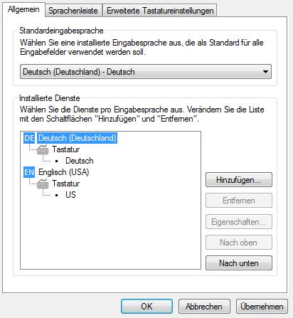 Allgemein Tastatur Windows Fenster