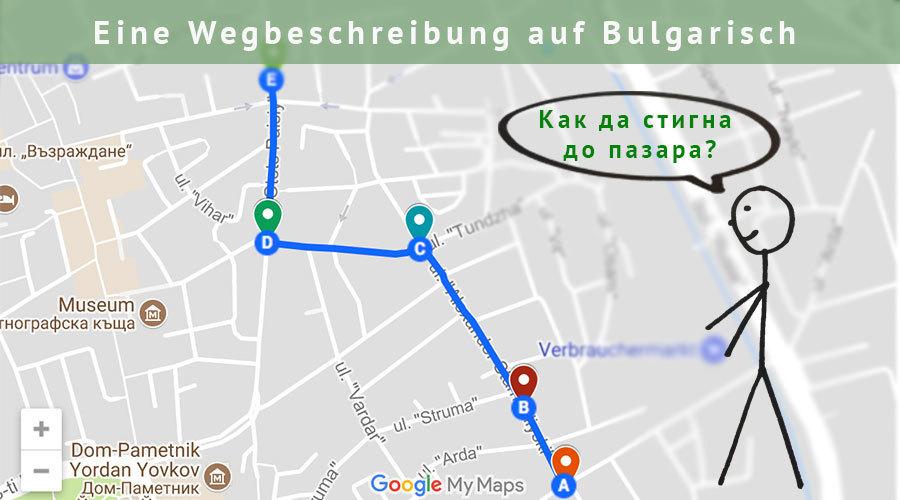Wegbeschreibung-Bulgarisch-Titel
